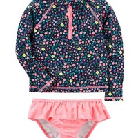 Carter's Polka Dot Rashguard Set