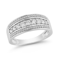 14k White Gold Diamond Ring (1/4 cttw H-I Color, I1-I2 Clarity)