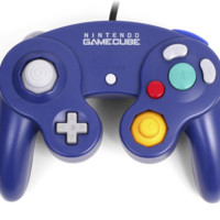 Nintendo Gamecube Indigo Purple Wired Gamepad Controller Wii DOL-003 DOLACVT2 (Second Listing)