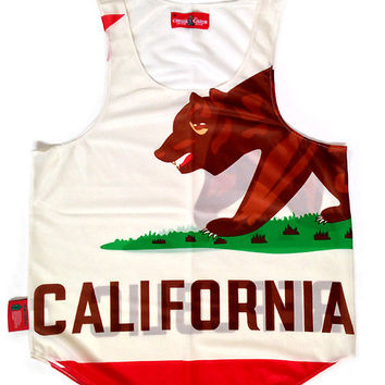 "California ""Golden State"" Flag Tank Top"
