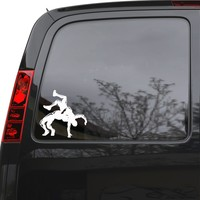 "Auto Car Sticker Decal Wrestlers MMA Fighters Martial Arts Truck Laptop Window 5"" by 5.1"" Unique Gift 1782igc"