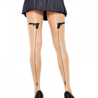 "Women's ""Gunshot"" Tights by Leg Avenue (Sheer/Black)"