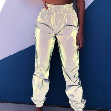 A new hot seller of reflective slacks with ankle straps