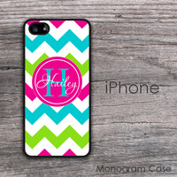 Fresh shiny colorful chevron personalized iPhone hard cover