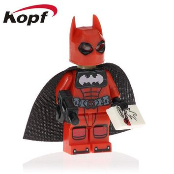 Deadpool Dead pool Taco Single Sale Super Heroes Wolverine  Batman Flash  Bricks Education Action Figures Building Blocks Toys Gift Kids PG1595 AT_70_6