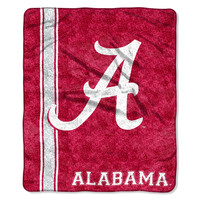 Alabama Crimson Tide Blanket - 50x60 Sherpa - Jersey Design