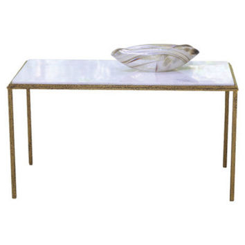 Hammered Gold Cocktail Table