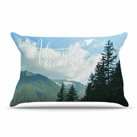 "Robin Dickinson ""Adventure Beckons"" Nature Landscape Pillow Case"