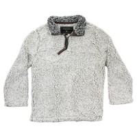 CHILD'S Frosty Tip 1/4 Zip Pullover in Putty by True Grit - FINAL SALE