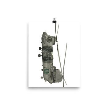 Chinook Helicopter $100 Dollar Bill Photo paper poster