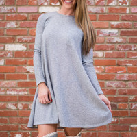 Minimalist Manner Tunic, Gray