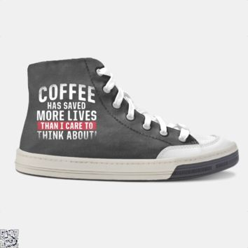 Coffee Has Saved More Lives Than I Care To Think About, Coffee Lover's Skate Shoe