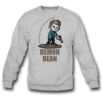 demon dean SWEATSHIRT CREWNECKS