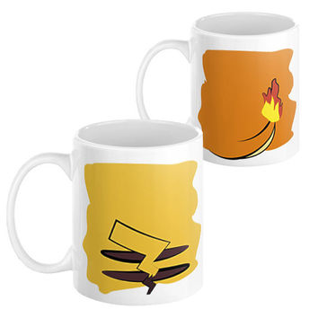 Pokemon Pikachu Charmander Mug Set - Coffee Anime Squirtle Ash 90's Vintage Cartoon yugioh