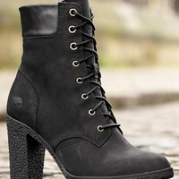Buy Timberland® Nubuck Black Heeled Boot from the Next UK online shop