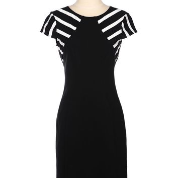 Yoana Baraschi Op Art Faux Halter Dress