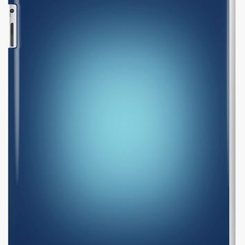 'White spotlight on blue' iPad Case/Skin by steveball