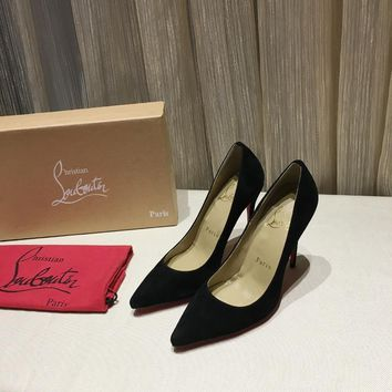 CL Christian Louboutin Women Trending Black High Heel Shoes Best Quality
