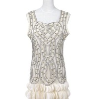 Anna-Kaci S/M Fit Infinity Braid Flapper Inspired Dress w Scalloped Petal Hem