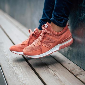 hcxx New Balance 574 Sport Suede Pack 'Copper Rose with White'