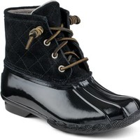 Sperry Top-Sider Saltwater Duck Boot Black, Size 5M  Women's Shoes