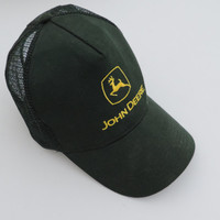Vintage John Deere Trucker Snap Back Adjustable Hat Adult One Size
