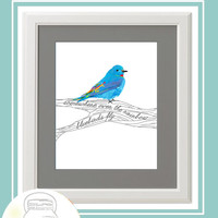 Somewhere Over the Rainbow Bluebirds Fly 8 x 10 Print Instant Download