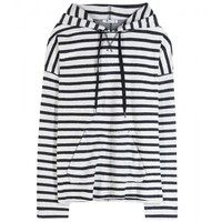 t by alexander wang - striped cotton hoodie