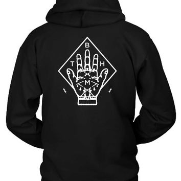 Bring Me The Horizon Bmth Hand Hoodie Two Sided