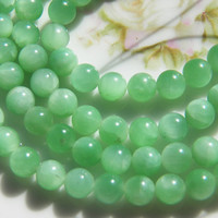Green Amazonite 6mm Round Gemstone Bead