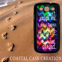 Galaxy Space Awesome Quote Samsung Galaxy S3 Hard Plastic or Rubber Cell Phone Case Cover Original Design