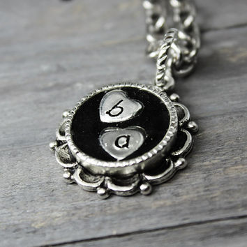 Initial Necklace, Mother Necklace,  Hand Stamped Jewelry, Personalized Necklace, Initial Jewelry