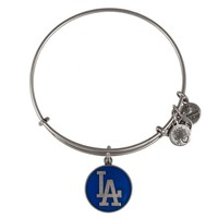 Alex and Ani Blue Los Angeles Dodgers™ Cap Logo Charm Bangle - Russian Silver