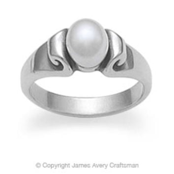 Scroll Ring with Pearl from James Avery
