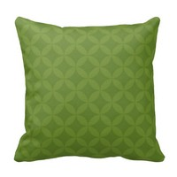 Shades of Olive Green Circle Abstract Pillow