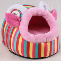Home pet Bed House  Sheep Pet Dog Cat Kennel Doggy Warm Cushion Basket Cute