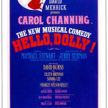 Hello Dolly 11x17 Broadway Show Poster (1964)