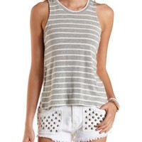 Reverse High-Low Muscle Tee by Charlotte Russe