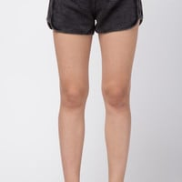Black Washed Out Tie Waist Shorts