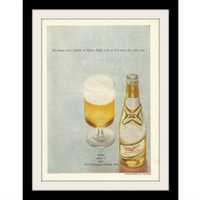 "1969 Miller High Life Beer Ad ""Champagne"" Vintage Advertisement Print"