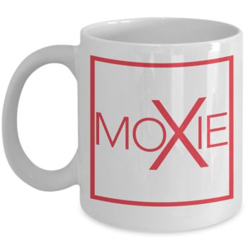 Moxie Coffee Mug, Perfect Birthday Gift for that Active Person, Motivational White Mugs, 11 oz