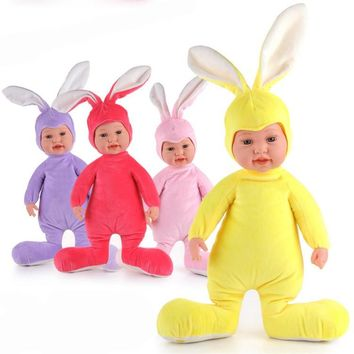 20 inches Stuffed Baby Born Doll Toys For Children Silicone Reborn Alive Babies Lifelike Kids Toys Sleep Reborn Doll For Kid Toy