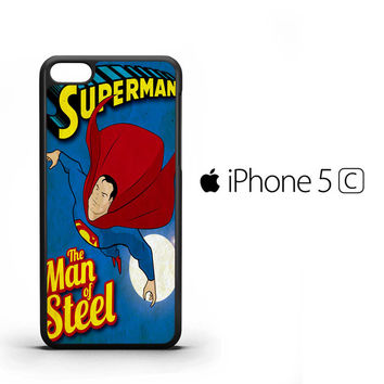 Vintage Superman Man of Steel Z0732 iPhone 5C Case