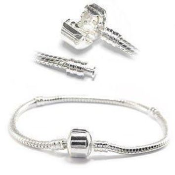 ONE Pandora Style Bracelet - Pandora Compatible for Name Brand Beads & Charms