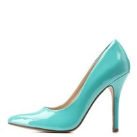 Aqua Pointed Toe Stiletto Pumps by Charlotte Russe