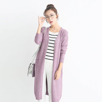 Autumn Casual New Fashion Long Cardigan