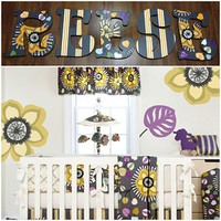 GLENN JEAN MELROSE INSPIRED HAND PAINTED WOOD WALL LETTERS