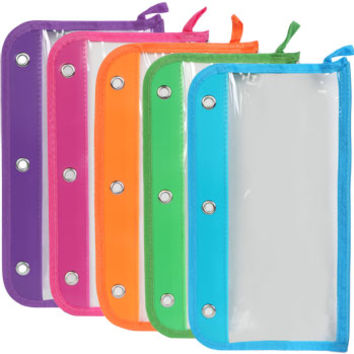 Bulk 3-Hole Plastic Pencil Pouches at DollarTree.com
