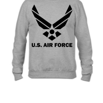 us air force ,Crewneck Sweatshirt, - Crewneck Sweatshirt