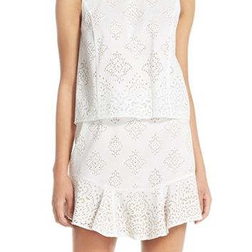 BCBGMAXAZRIA 'Vivian' Burnout Lace Popover Dress | Nordstrom